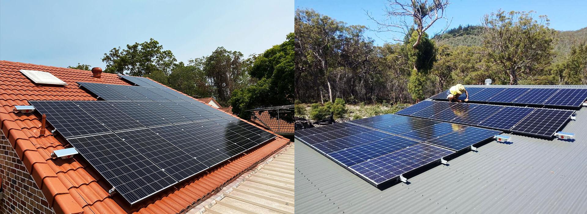 Home solar system installations